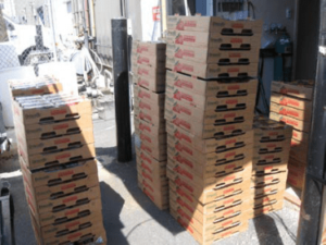 Boxes full of strawberries