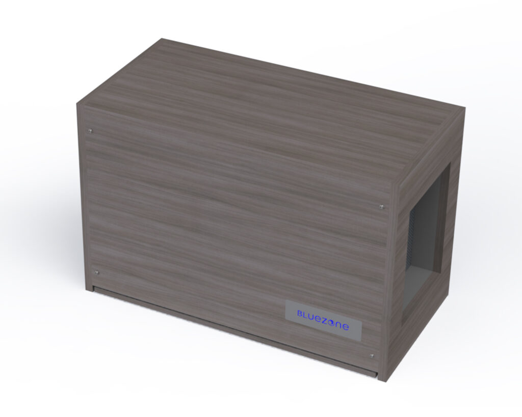 Wall mounted enclosure for Bluezone model 300