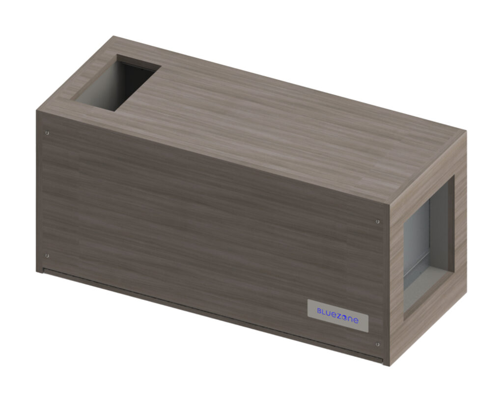 Wall mounted enclosure for Bluezone model 450